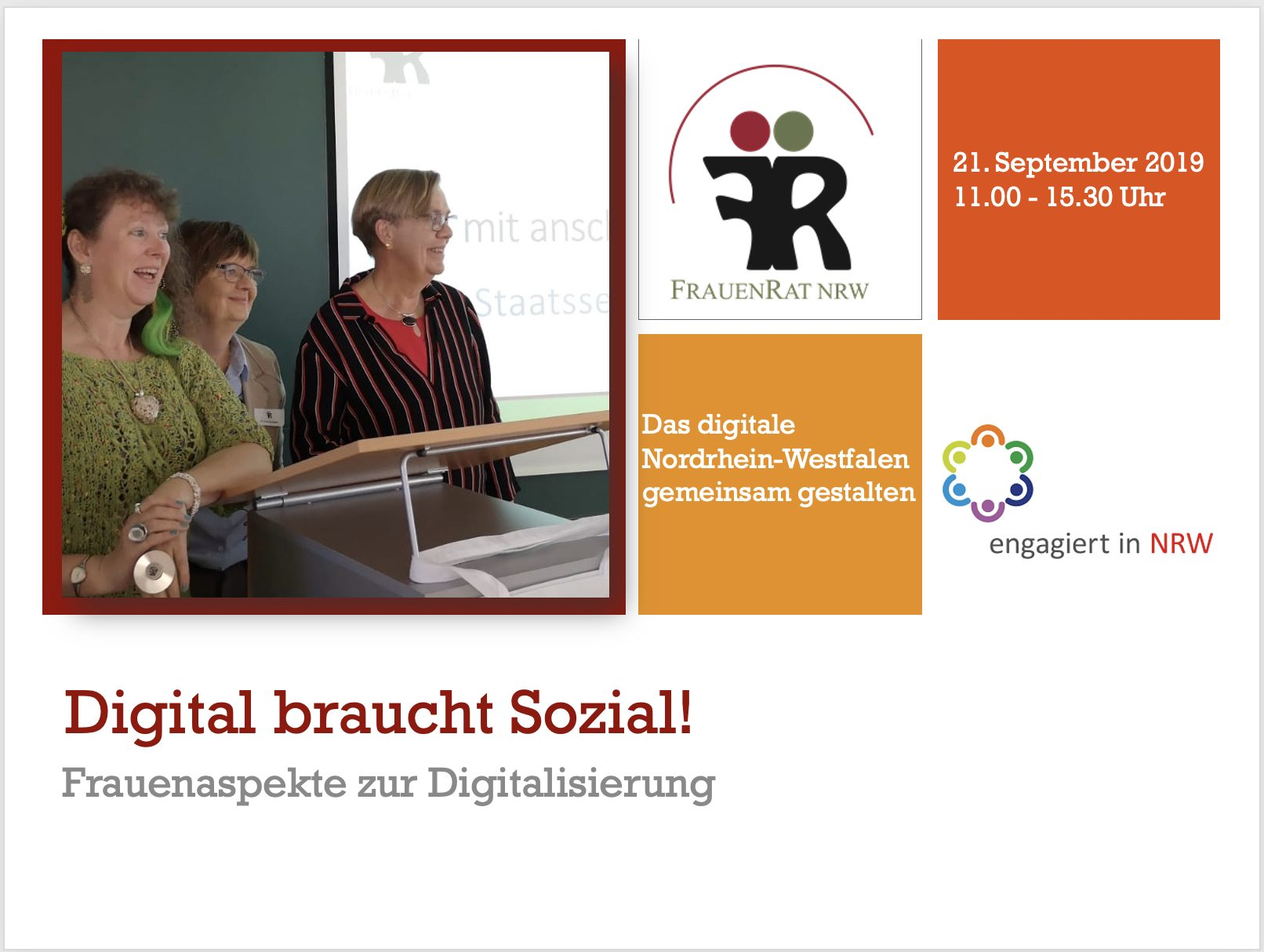 Frauenaspekte zur Digitalisierung in NRW